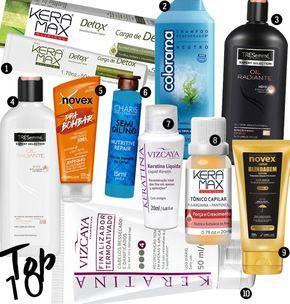 10 produtos de cabelo por até R$15,00