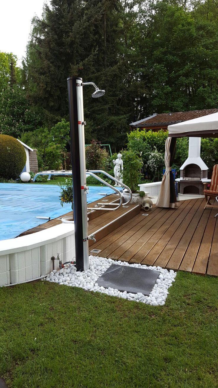 Neue Gartendusche Garten Design Ideen Inspiration Und Fotos Homifizieren Outdoor Pool Shower Backyard Pool Designs Outdoor