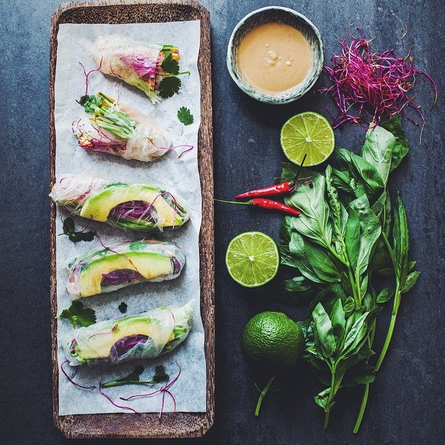 Vietnamese Vegan Summer Rolls with Peanut Sauce // Madeline Lu.  Find this #recipe and more on our Clean Eating Feed at https://feedfeed.info/clean-eating-recipes?img=535071 #feedfeed
