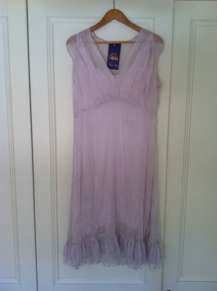 Beautiful XL Silk Chiffon Lilac Dress w/slip 78% off - 72HR CLICK FRENZY SPECIAL