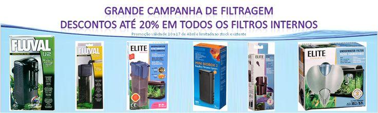 Grande campanha de filtragem - Descontos até 20% em todos os filtros internos. Ver mais aqui: http://www.aquacomets.net/post/grande-campanha-de-descontos-em-filtros-de-aquario