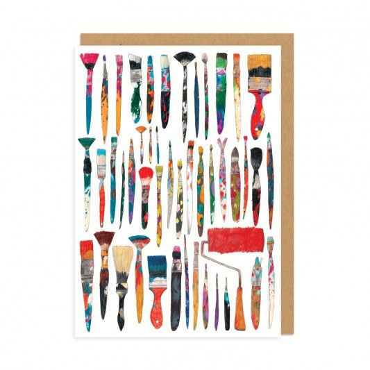 Paint Brushes Greeting Card at http://www.ohhdeer.com