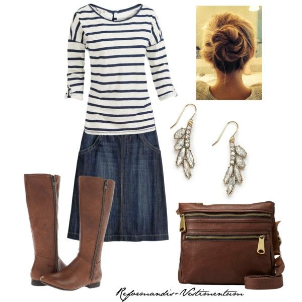 A fashion look from November 2014 featuring Fat Face t-shirts, White Stuff skirts and Børn boots. Browse and shop related looks.