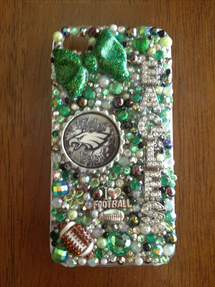 Eagles football nfl  cell phone case   ☀See my shop on etsy :  Www. Etsy.com/shop/heartslover ☀   I can make design on any case !!I keep iPhone cases In stock and will order any case for you and the turn around to get a case to you is 7-10 days !!! 25 $ and up. Depending on case and 1.70 shipping  I can make any team Any color any time !!