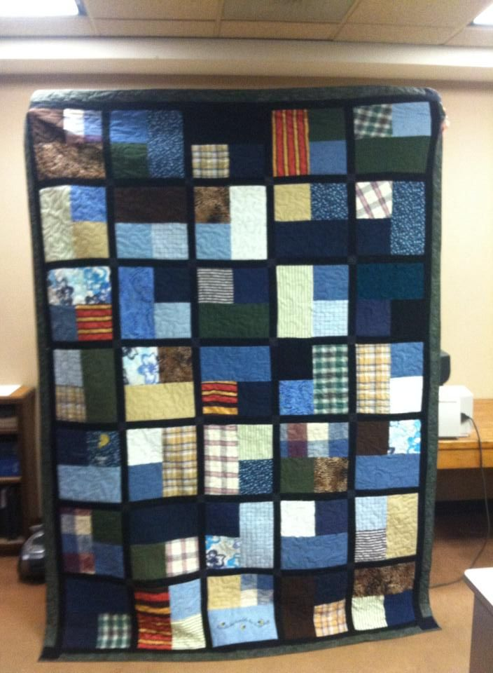 Memory Quilt from Clothing