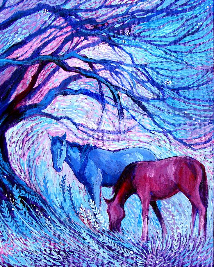 Evening Mystic by Sally Bartos, New Mexico artist. Her work is available from bartos on Etsy.