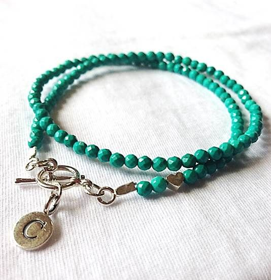 turquoise and silver charm bracelet