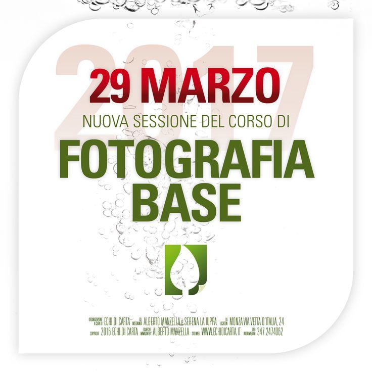 CORSO di FOTOGRAFIA BASE Mercoledì 29 Marzo 2017 dalle 20.00 alle 22.00.  Locandina pdf: http://www.echidicarta.it/download/locandinecorsi/FOTOGRAFIABASEWEB.pdf  Il calendario corsi è scaricalbile all'indirizzo: http://www.echidicarta.it/download/locandinecorsi/CALENDARIOCORSIWEB.pdf  © 2017 ECHI di CARTA snc. Tutti i diritti riservati. #corsi #fotografia #fotografiabse #corsobase #corsidifotografia #workshop #echidicarta #echidicartacorsi #fotoritratto #fotopaesaggio #fotonudo #unodinoi