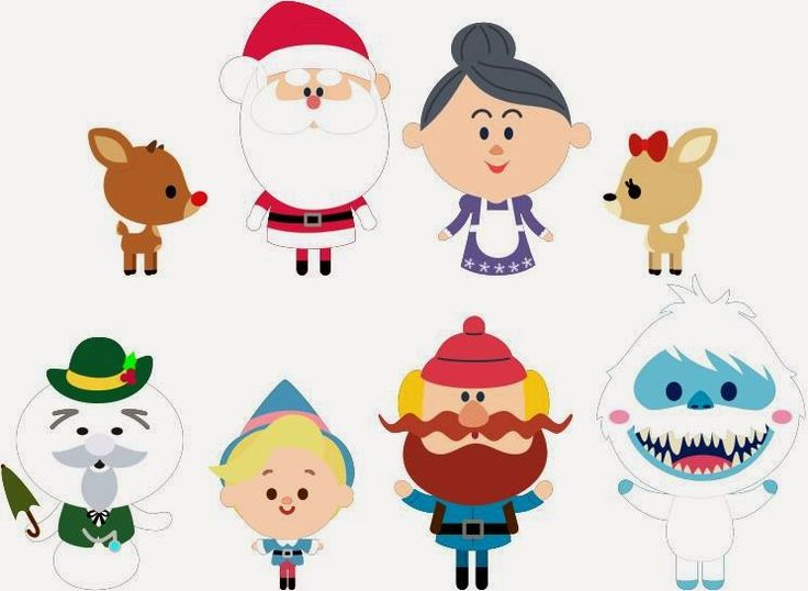 Krafty Nook: Rudolph the Red-Nosed Reindeer Kawaii Svgs