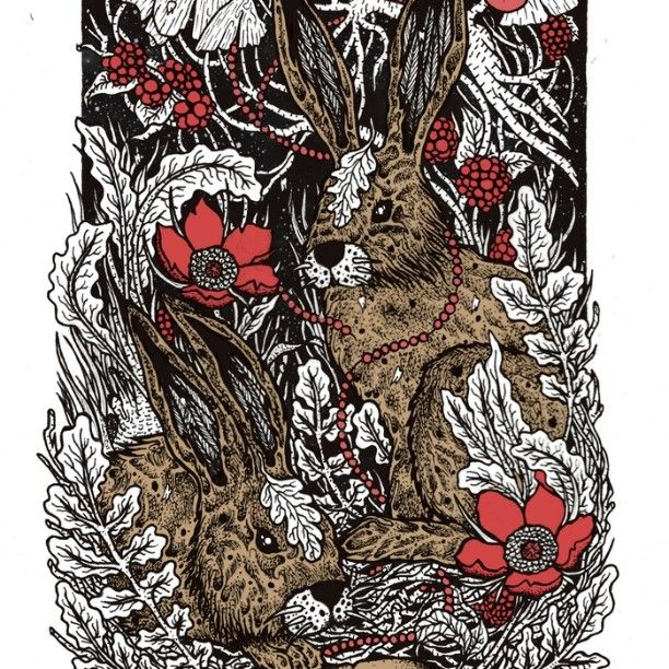 #illustration #penandink #bunnies #bunny #shapefromhell #skateboard #graphic #drawing #nature