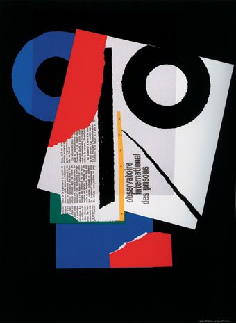 By Jean Widmer (b. 1929), 1992, Observatoire International des Prisons poster. (S, (F))