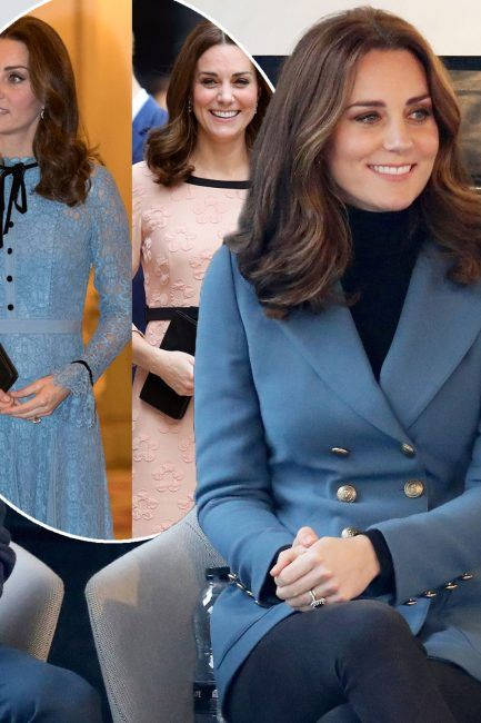 Kate Middleton pregnant: Duchess Of Pregnant teases fans with sex of baby AGAIN as she steps out in 760 blue blazer with husband Price William and Prince Harry