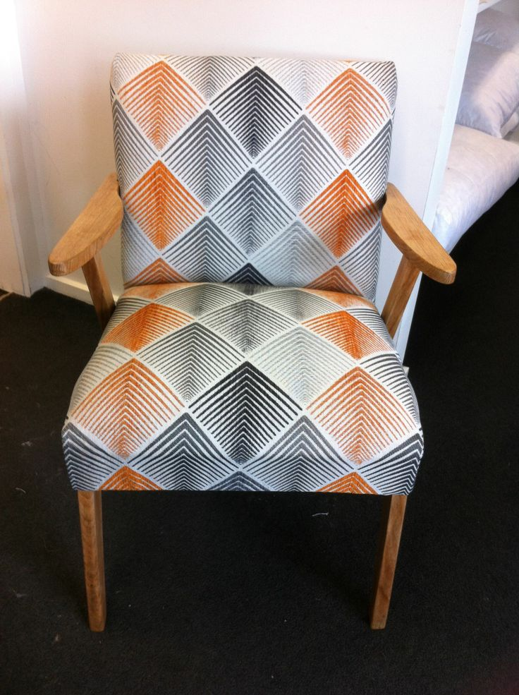 Chair completed by participant in Padgham Upholstery Classes