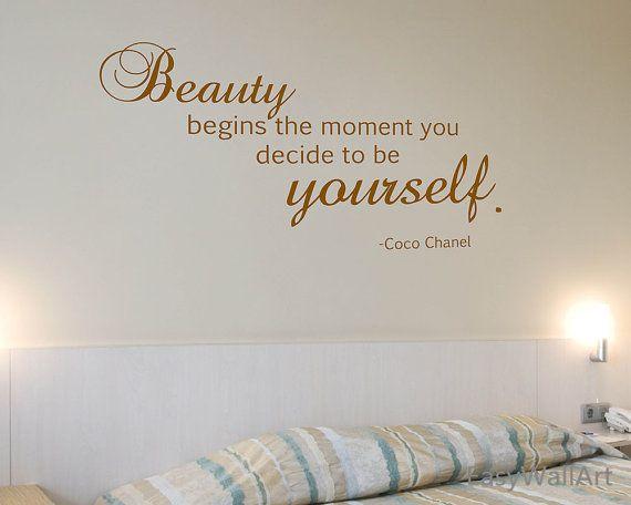 Coco Chanel muur Decal Coco Chanel citaten voor door HappyWallzArt