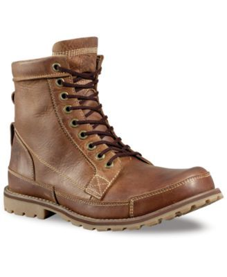"Timberland Men's Earthkeeper Original 6"" Waterproof Boot- Extended Widths Available $149.98 Inspired by the rugged style of a classic work pair of men's boots, this modern update on the quintessential boots for men from Timberland offers a refined complement to your favorite jeans or chinos."