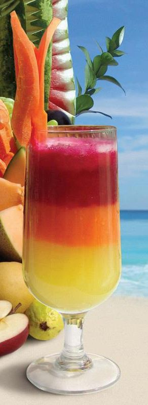 Beauty and the beach Exotic drinks