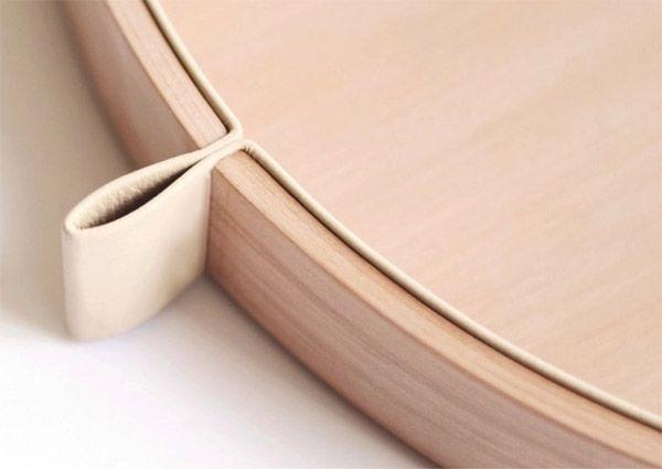 Wood and leather detail: Boxes Details, Design Lust, Details Corner, Woodworking Details, Pears Woods And Leather, Furniture Details, Design It, Leather Details, Leather Sets