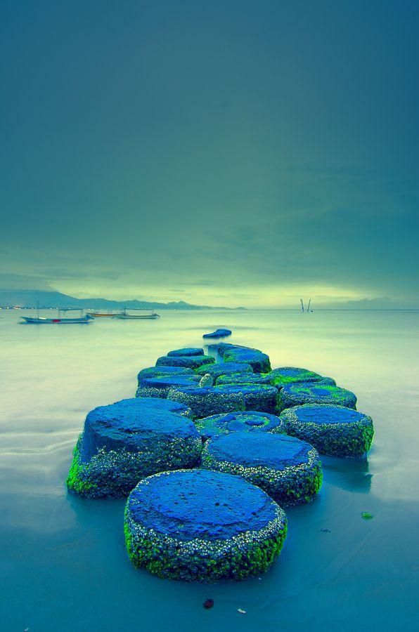 Dawn in Bali - Blue beach, Indonesia. #WesternUnion