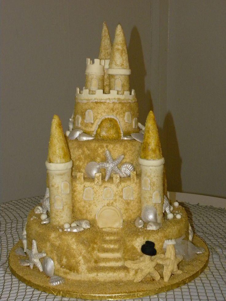 Sand Castle Wedding Cake — Round Wedding Cakes