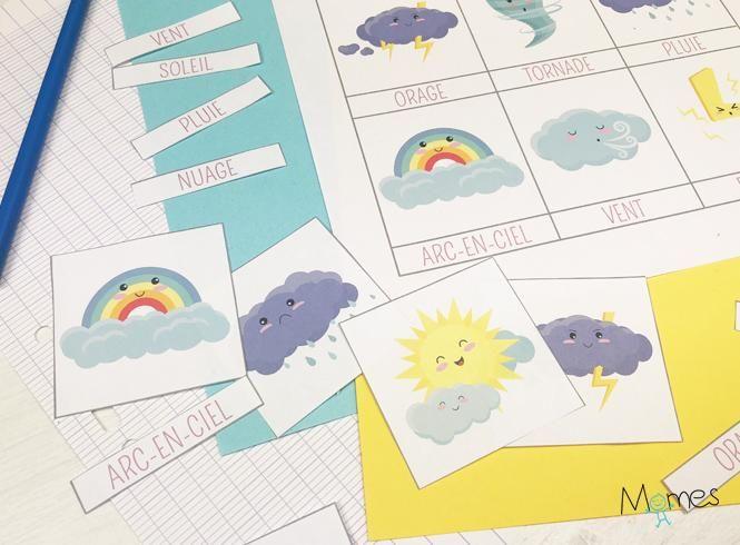 Imagier De La Meteo A Imprimer Imagier A Imprimer Meteo