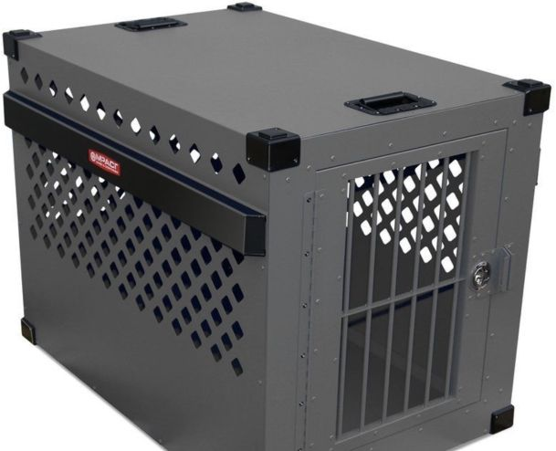 Heavy Duty Dog Crate - Escape Proof Aluminum Construction
