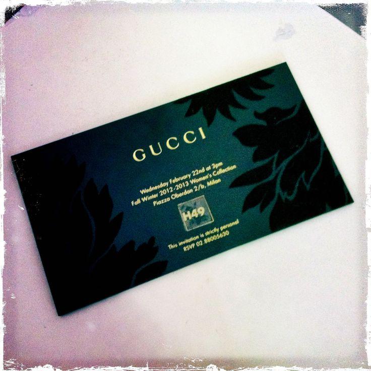 gucci invitation card