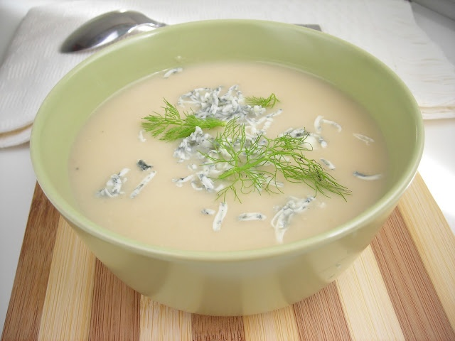 Cauliflower and Fennel Velouté with Gorgonzola Garnish | hip pressure cooking - pressure cooker recipes & tips!