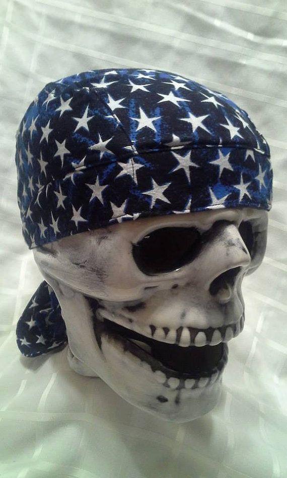 Men's Stars Skull Cap/ Helmet Liner/ Du Rag by JennifersGemz, $9.99
