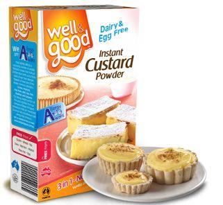 Well and Good Gluten Free Instant Custard Powder. #wellandgood