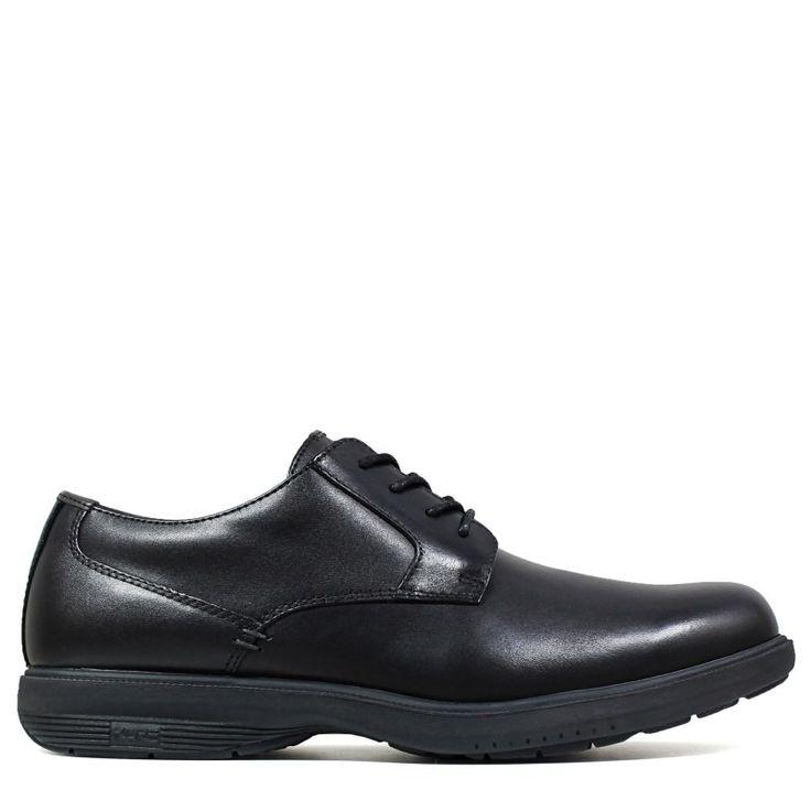 Nunn Bush Men's Marvin Street Medium/Wide Plain Toe Oxford Shoes (Black Leather)
