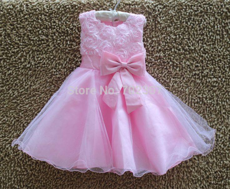 Розничная рождество дети платье девушки розовые дети ну вечеринку платье для летнего платье принцессы 6 цвет размер : 3 - 12 бесплатная доставка 5031