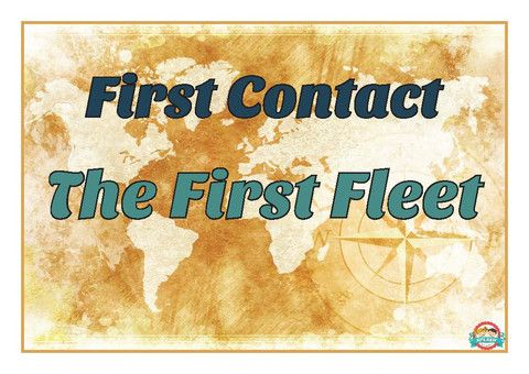 """First Fleet: """"First Contact - First Fleet"""" Word Wall and Display for Bulletin Board"""