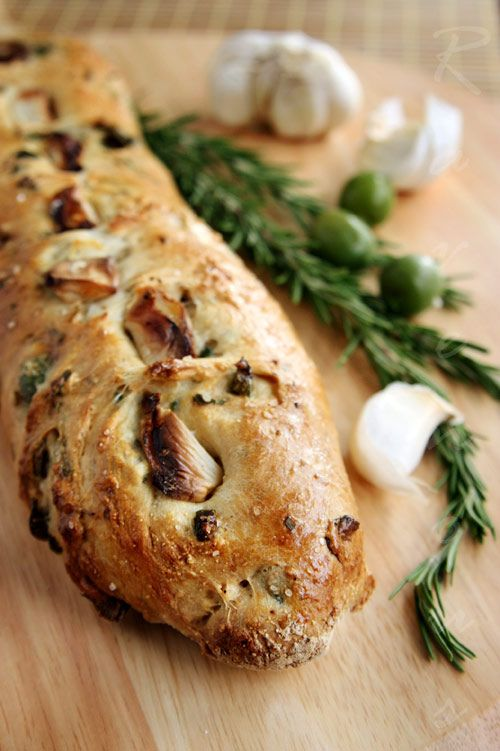No Knead Olive Bread by theravenouscouple