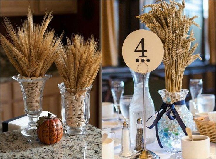 décoration automne à poser sur la table - des bouquets dautomne en ...