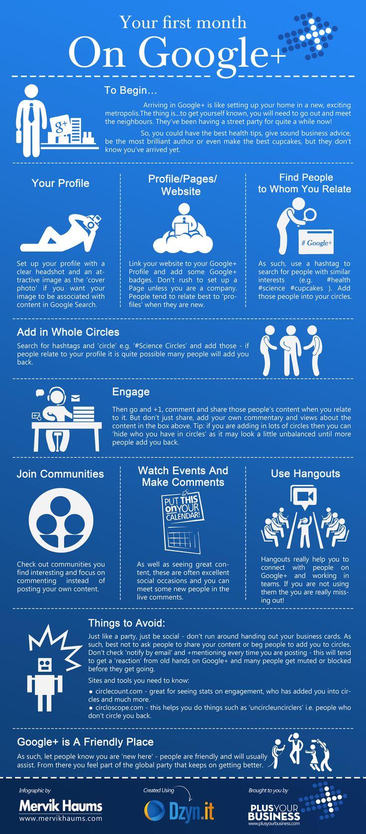 Beginners Guide Google Plus #infographic #google+ #googleplus #socialmedia