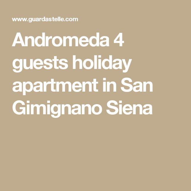 Andromeda 4 guests holiday apartment in San Gimignano Siena