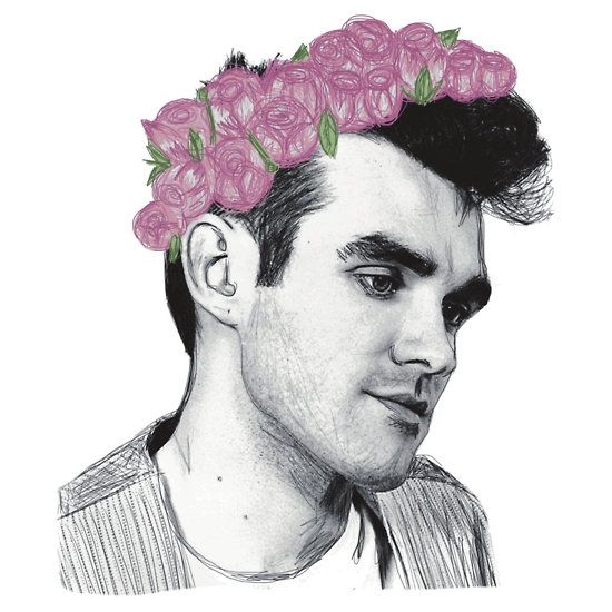 Young Morrissey Flower Crown by Crystal Friedman   word ...