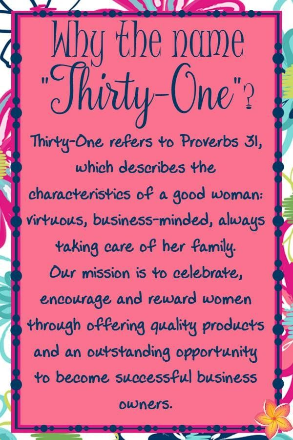 Did you know Thirty-One is a faith based company? Seriously the best company message. I love my job as a Thirty-One Director. www.thebagdealer.com