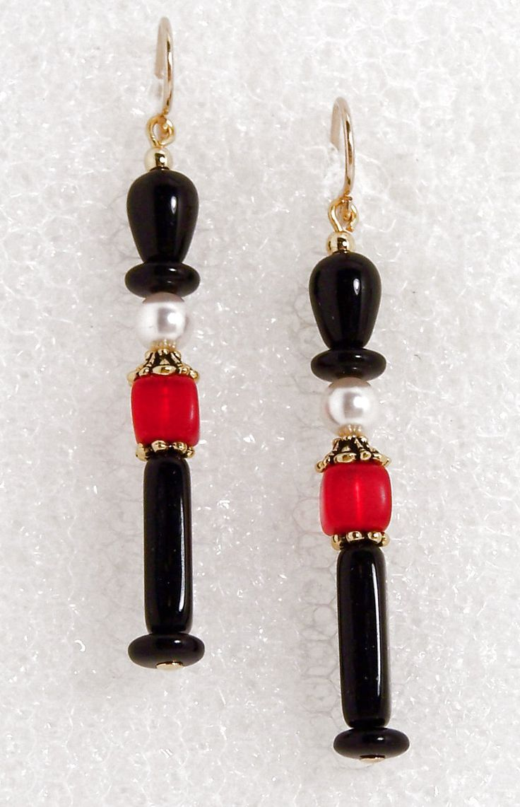 Nutcracker bead earrings