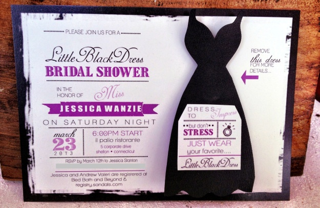 Little Black Dress Bridal Shower Invitations The Dress Removes With