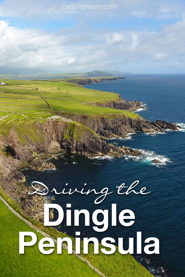 Dingle Peninsula. Road trip in Ireland, driving Slea Head Drive and visiting Inch Beach, Dingle, and Conors Pass.