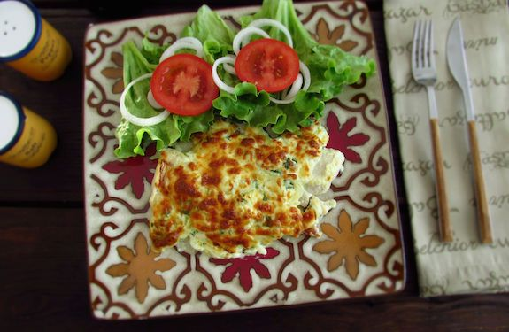 Fish fillets au gratin in the oven