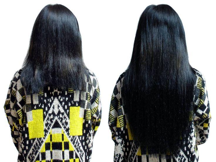 Extension capelli prima e dopo