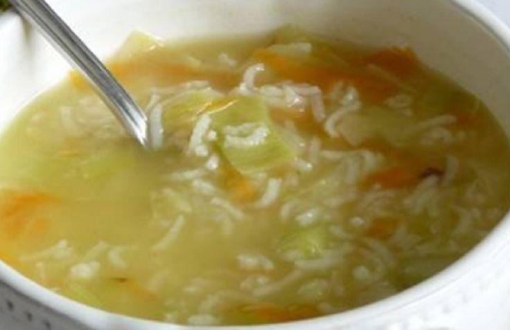 Recette : Soupe de riz aux légumes.