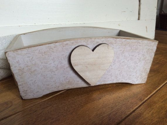 Wooden storage box vintage style trinket box by EnchantedLaceDecor