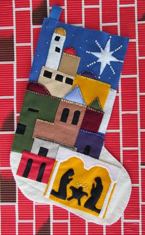 Ideias de presépios criativos - presépio de meia - faça você mesmo artesanato decoração de natal