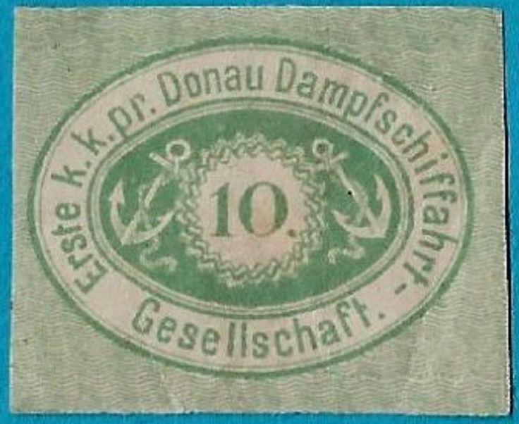 + 1866 The Danube Steamboat Shipping Company Black Sea DDSG 10p Imperf.MH