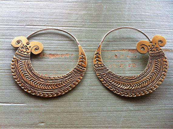 #Boho brass #indian #earrings. Love!