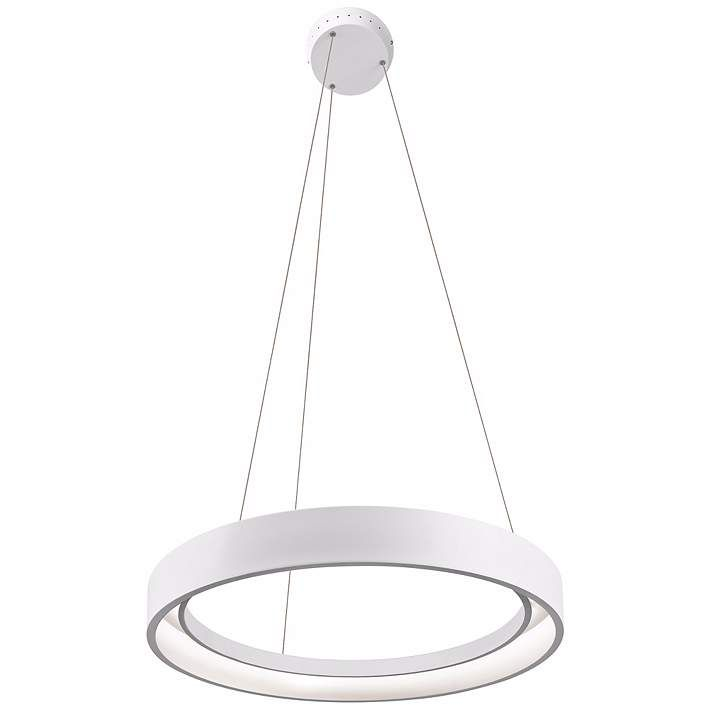 """Elan Fornello 23 1/2"""" Wide Dimmable LED White Pendant Light - #5W162 