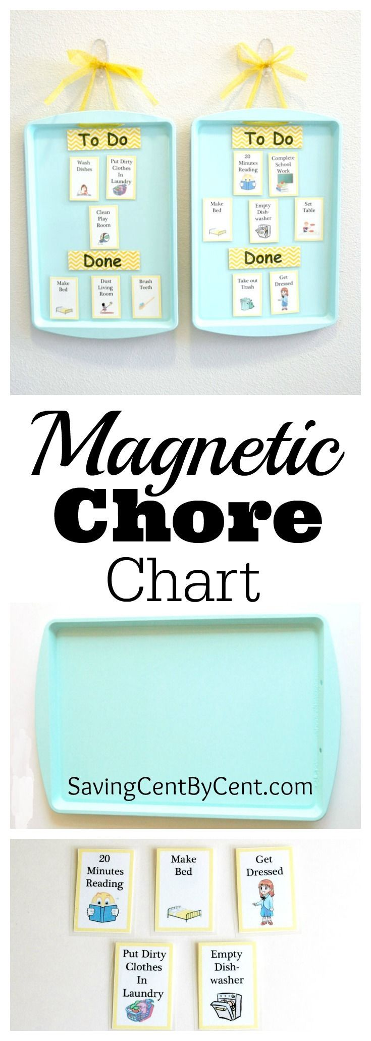 Inexpensive Do It Yourself Magnetic Chore Charts